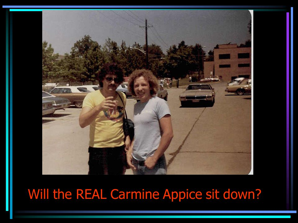 Will the REAL Carmine Appice sit down