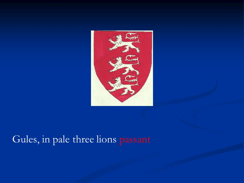 Gules, in pale three lions passant