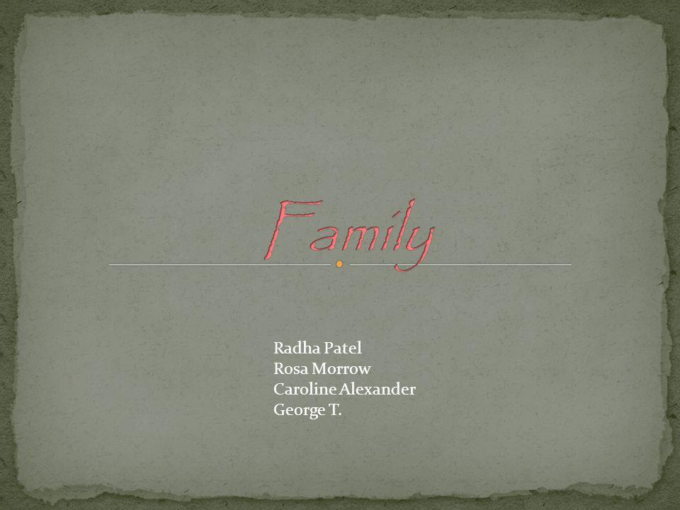 Radha Patel Rosa Morrow Caroline Alexander George T.