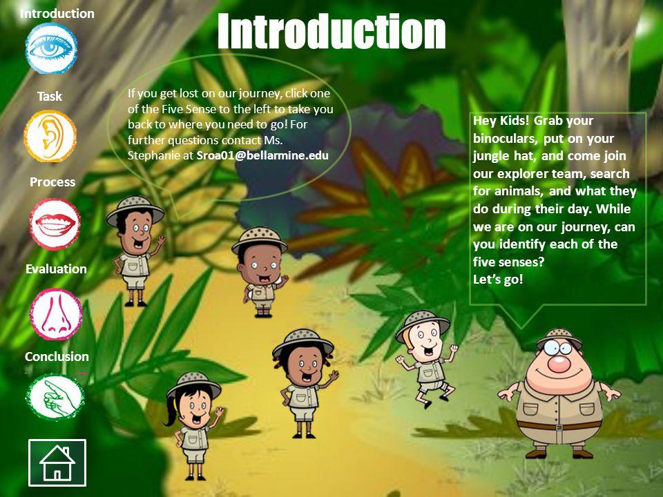 My Five Senses Kindergarten WebQuest Stephanie Roa Task Process Evaluation Conclusion Introduction