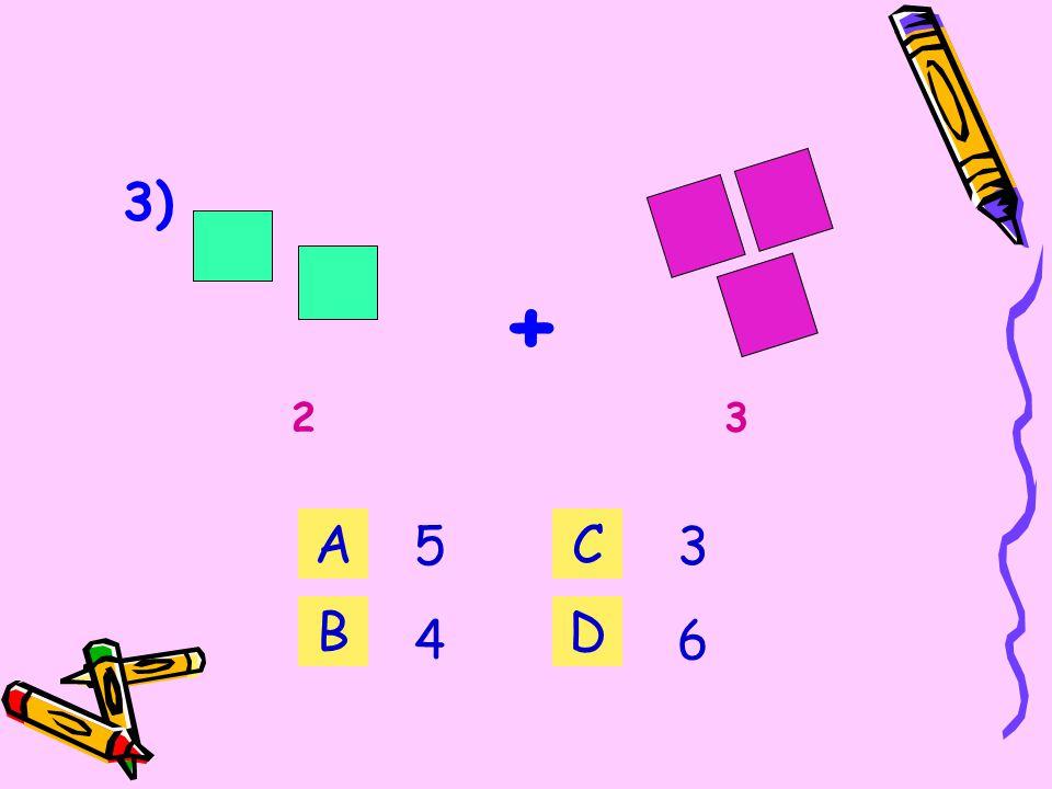 2) 7 + 3 = A B 10 7 C D 8989