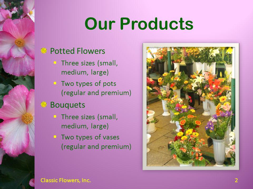 Classic Flowers, Inc. Jeffrey Sinclair