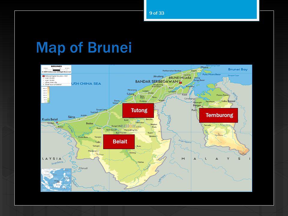 Map of Brunei 9 of 33 Temburong Tutong Belait