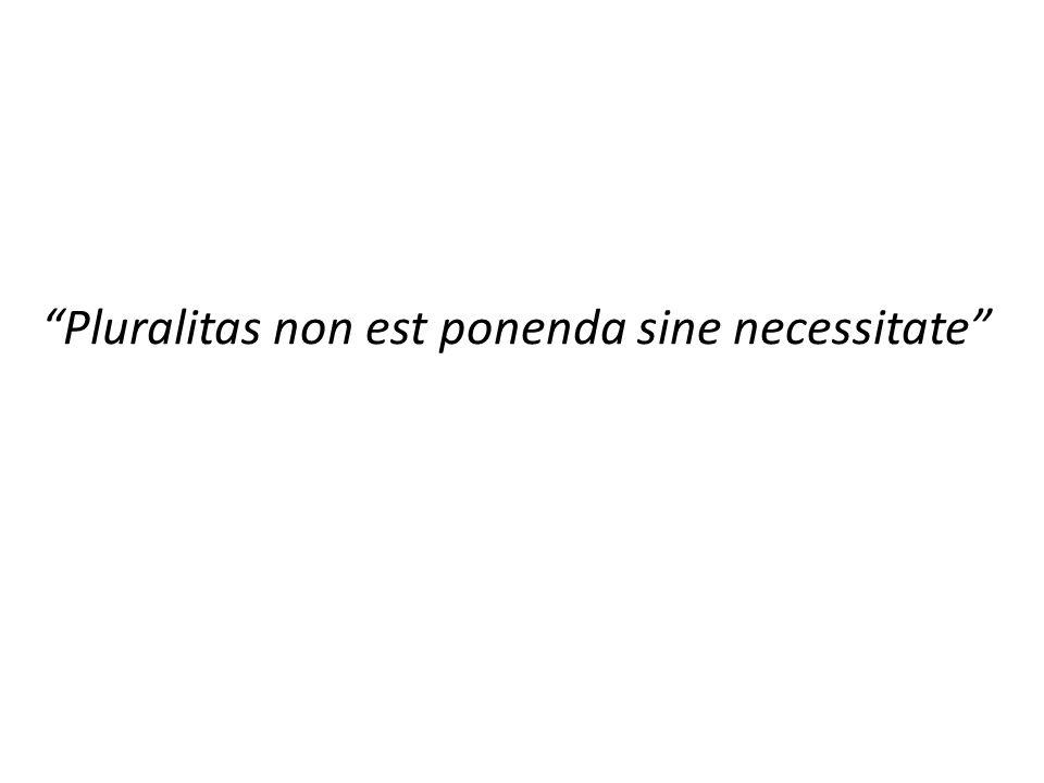 Pluralitas non est ponenda sine necessitate