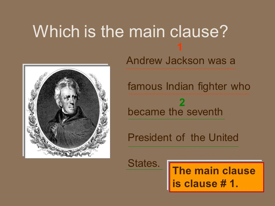 Which is the main clause.