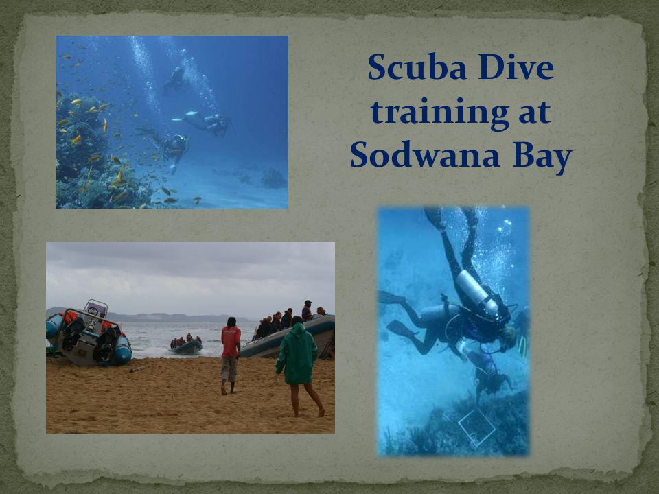Scuba Dive training at Sodwana Bay