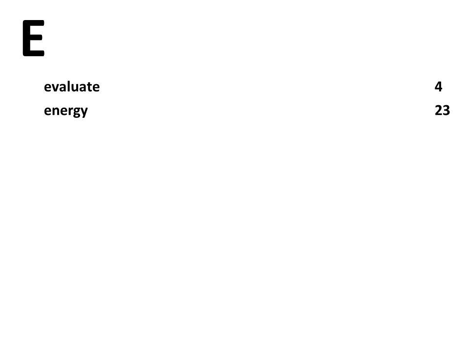 E evaluate4 energy23