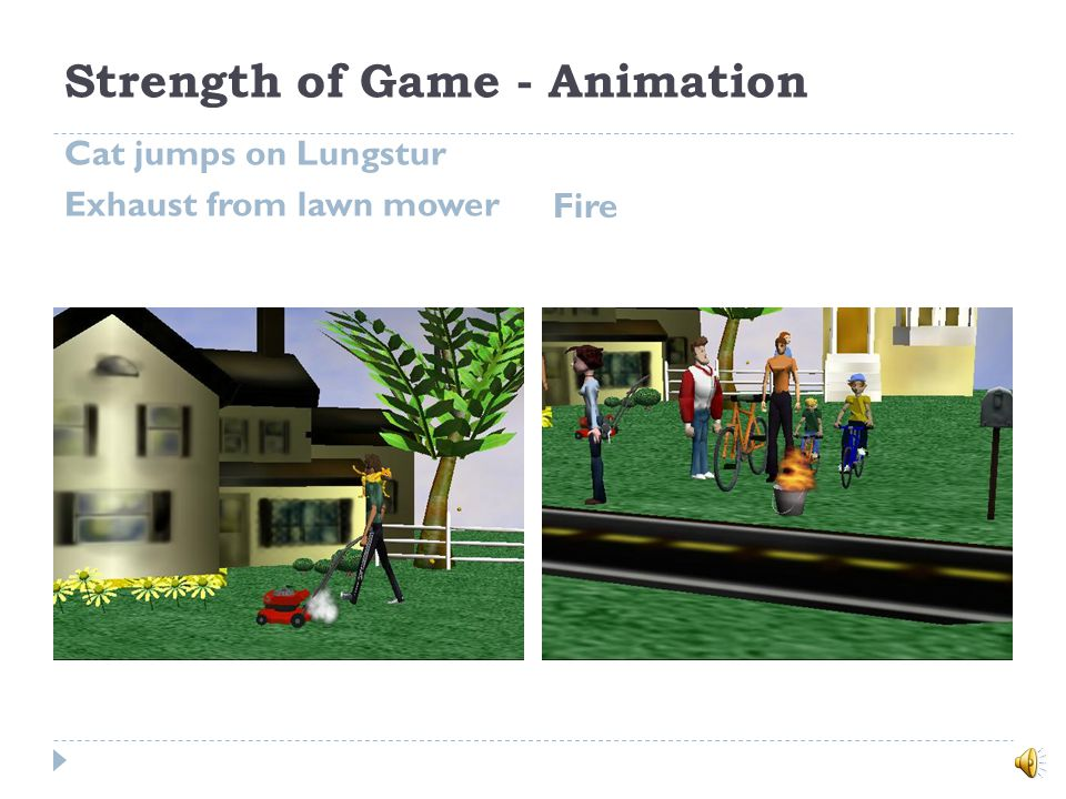 Lungstur Screenshot: Education Component at the End of the Game