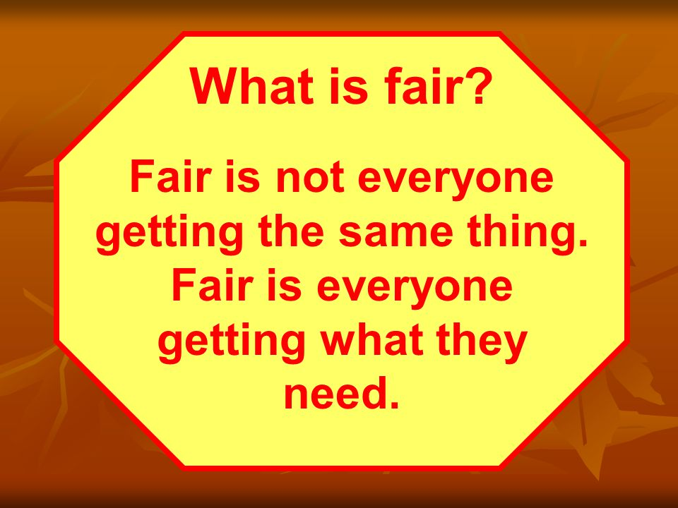 What is fair? Everyone is entitled to a special program to help them improve a skill.