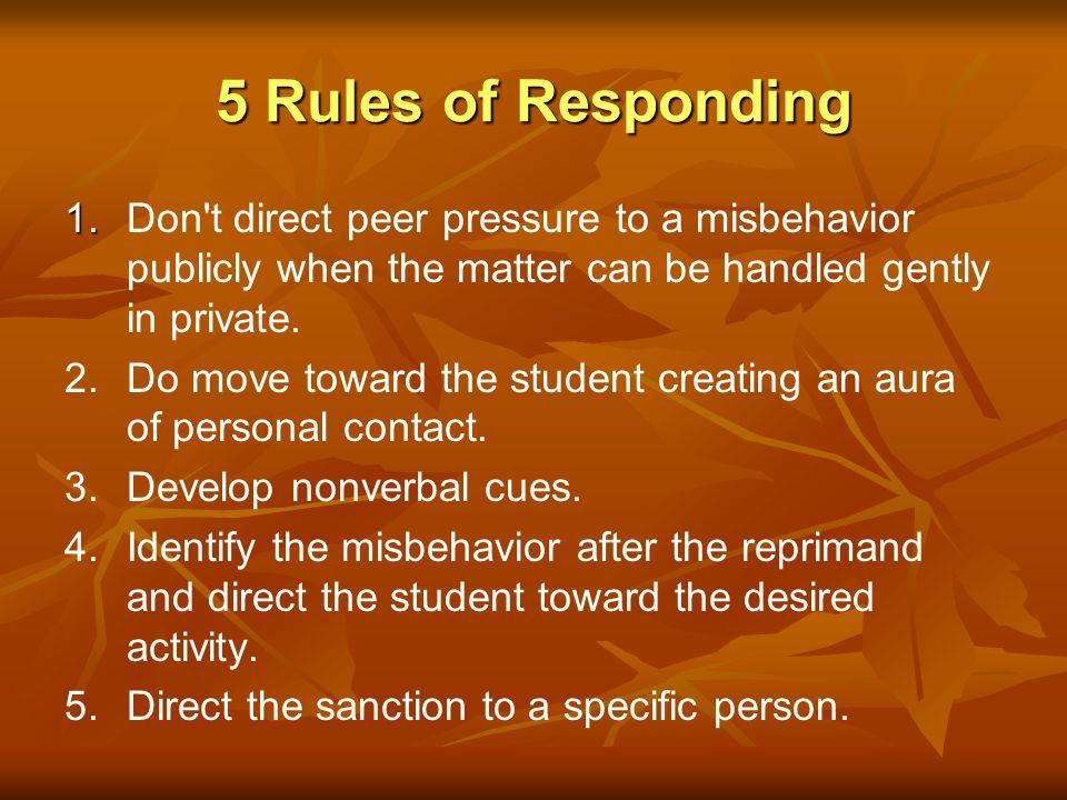 Handling Major Behavior Problems