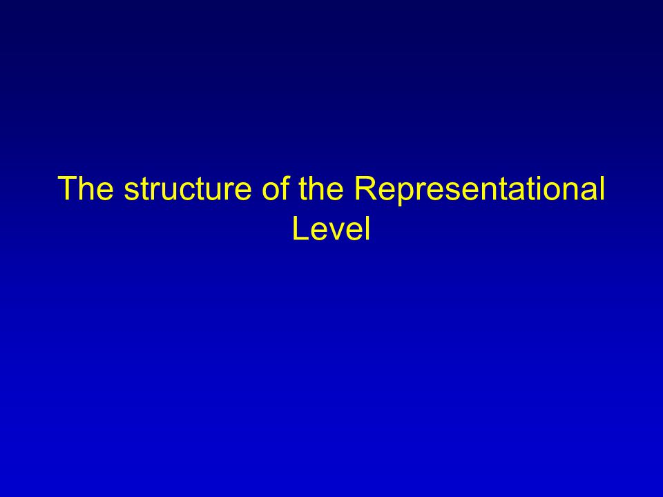 The structure of the Representational Level