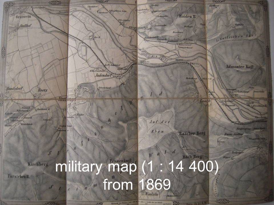 military map (1 : 14 400) from 1869
