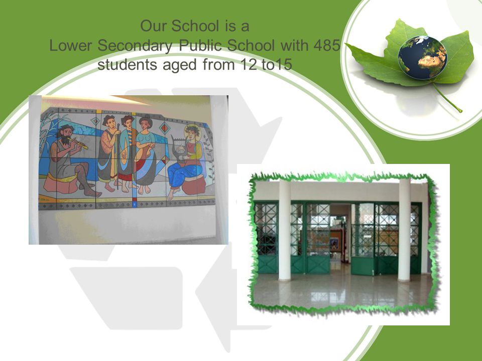 Our School is a Lower Secondary Public School with 485 students aged from 12 to15
