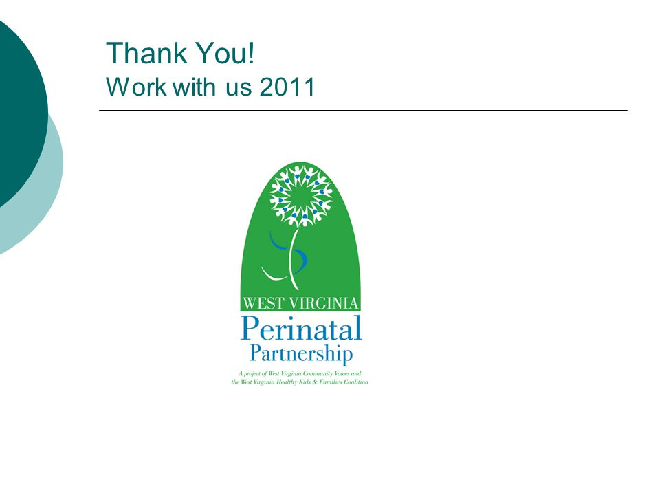 Thank You! Work with us 2011