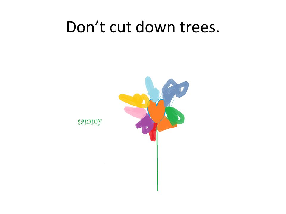 Dont cut down trees.