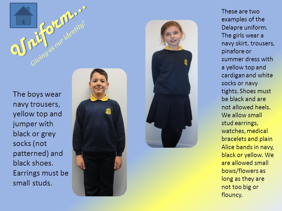 Uniform… Giving us our identity. These are two examples of the Delapre uniform.