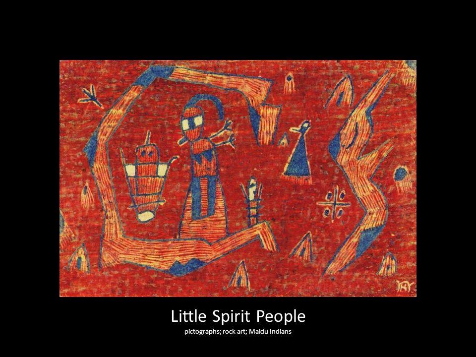 Little Spirit People pictographs; rock art; Maidu Indians