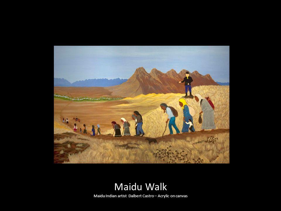 Maidu Walk Maidu Indian artist Dalbert Castro – Acrylic on canvas