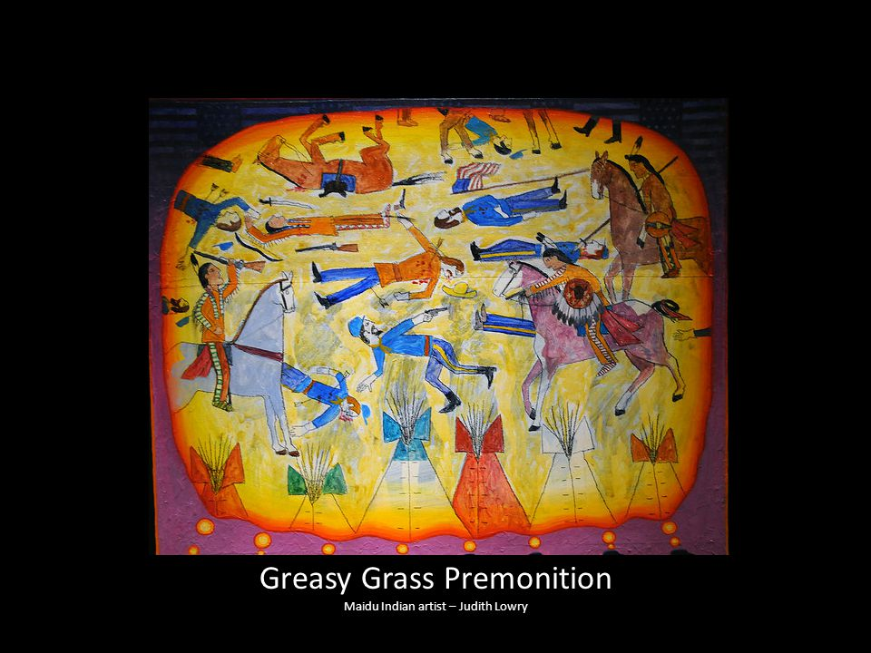 Greasy Grass Premonition Maidu Indian artist – Judith Lowry