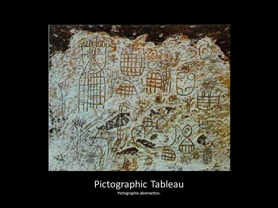 Pictographic Tableau Pictographic abstraction.