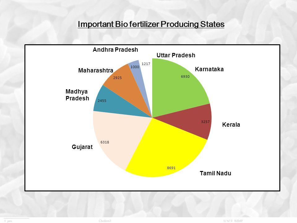 Important Bio fertilizer Producing States