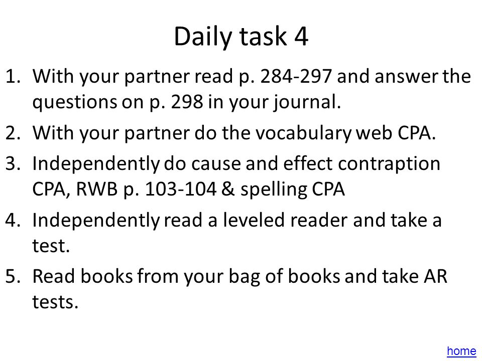 Daily task 3 1.With your partner read p. 292-297 and answer this question in your journal: What effect did Lydia Graces visit have on Uncle Jim? Why d