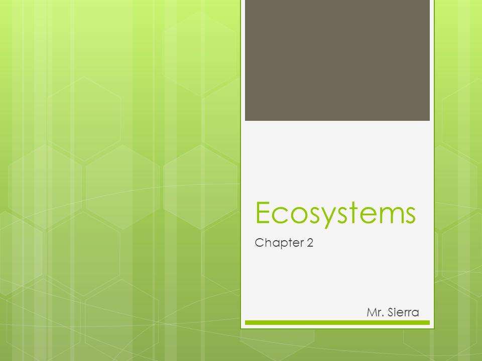 Ecosystems Chapter 2 Mr. Sierra