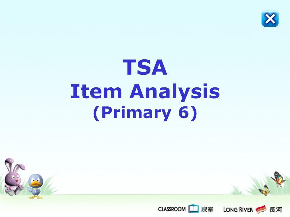 TSA Item Analysis (Primary 6)