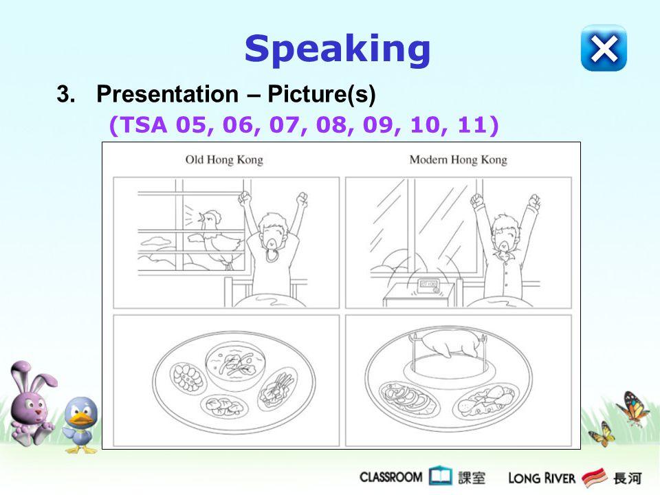 3. Presentation – Picture(s) Speaking (TSA 05, 06, 07, 08, 09, 10, 11)
