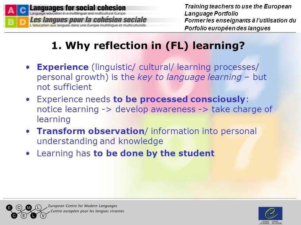 Training teachers to use the European Language Portfolio Former les enseignants à lutilisation du Porfolio européen des langues 1.