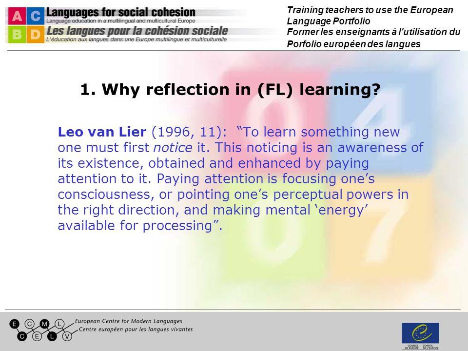 Training teachers to use the European Language Portfolio Former les enseignants à lutilisation du Porfolio européen des langues 7.