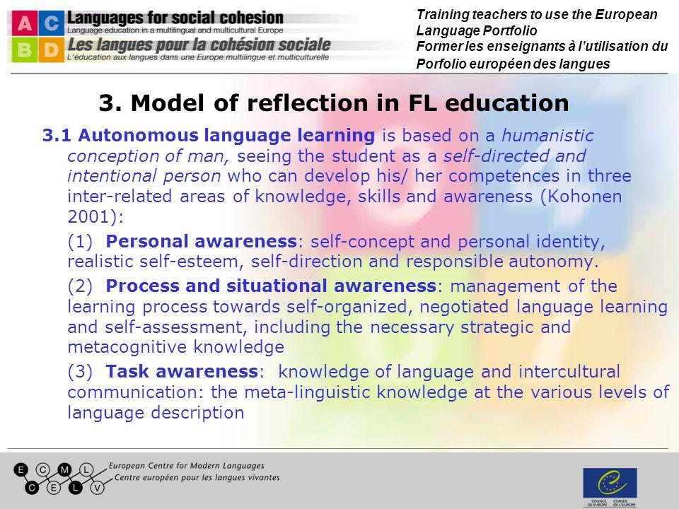 Training teachers to use the European Language Portfolio Former les enseignants à lutilisation du Porfolio européen des langues 3.
