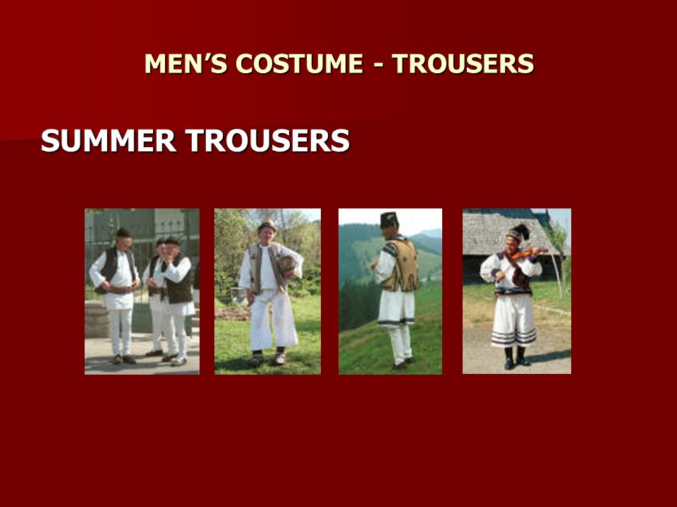 MENS COSTUME - TROUSERS SUMMER TROUSERS