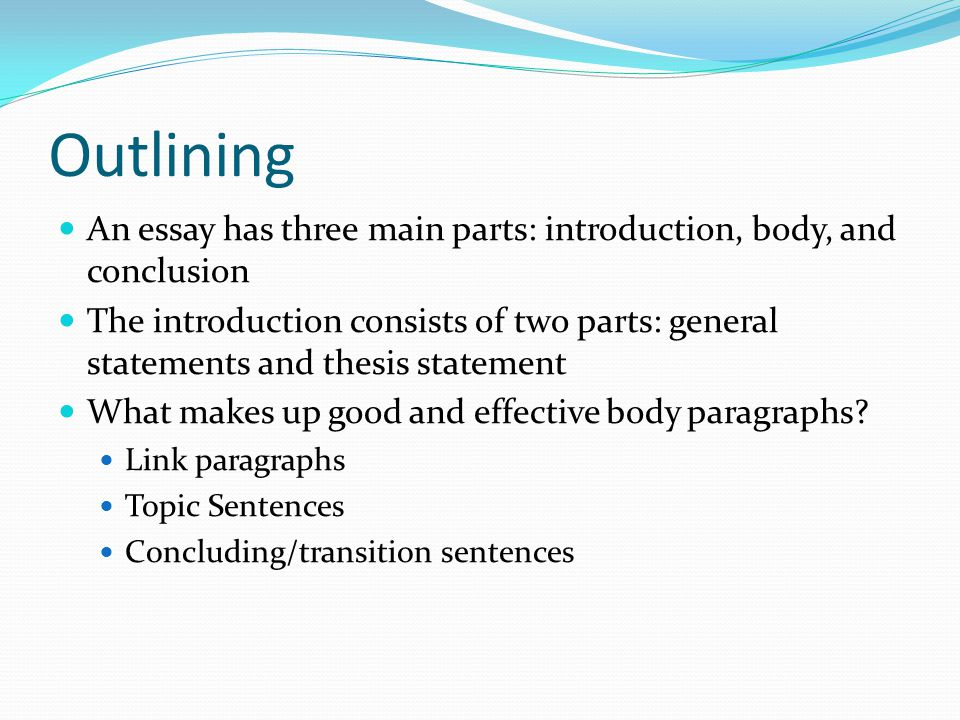 outlining an essay Tips on how to write an essay outline essay outlines provide the skeleton, the bare bones, on which you can build your writing they provide structure so that the ideas and thoughts flow logically and build towards a strong conclusion.