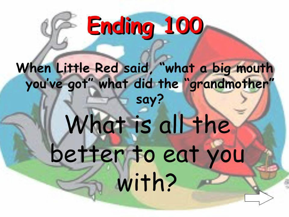 Middle 500 What was the second thing Little Red noticed about her grandmother.