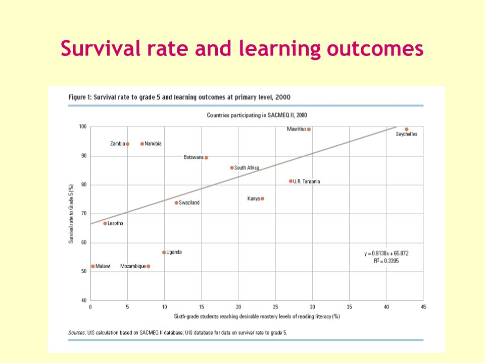 Survival rate and learning outcomes