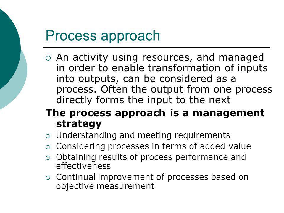 The process approach in educational programmes Procedures Process Objectives Principles