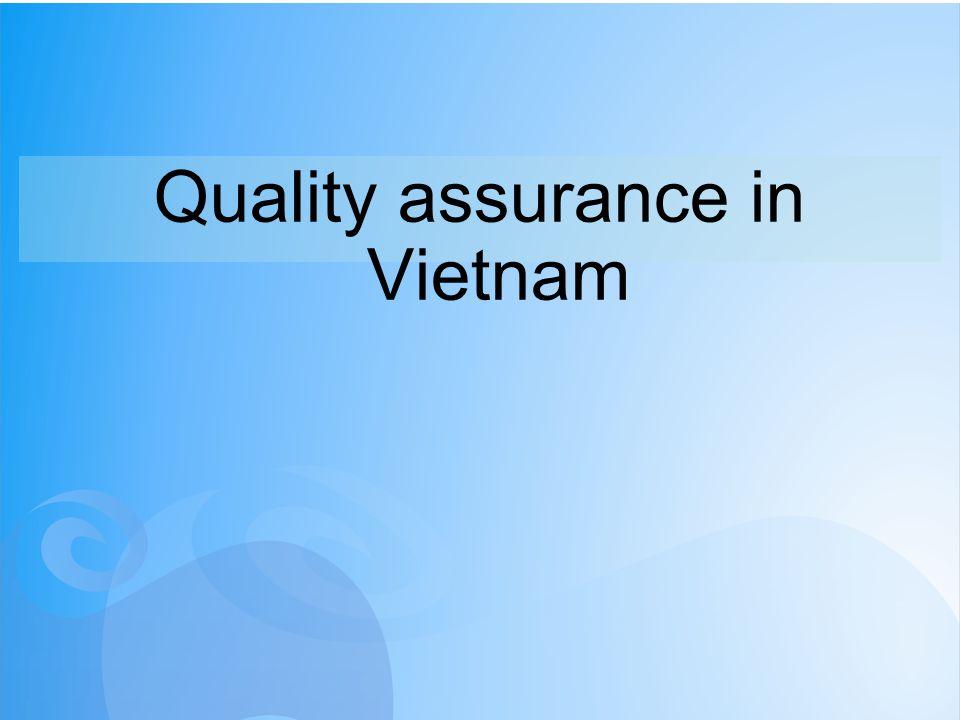 Quality assurance in Vietnam