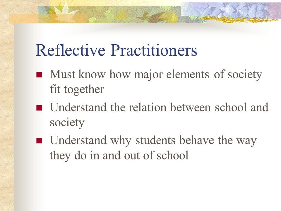 Main Elements of the Sociology of Education Theories about the relation between school and society Whether schooling makes a major difference in individuals lives How schools influence social inequalities How school processes affect the lives of children, teachers, and other adults