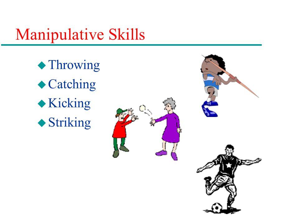 Manipulative Skills u Throwing u Catching u Kicking u Striking