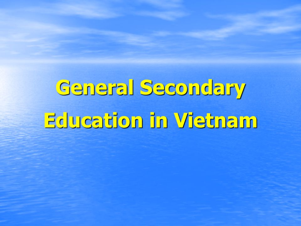 General Secondary Education in Vietnam
