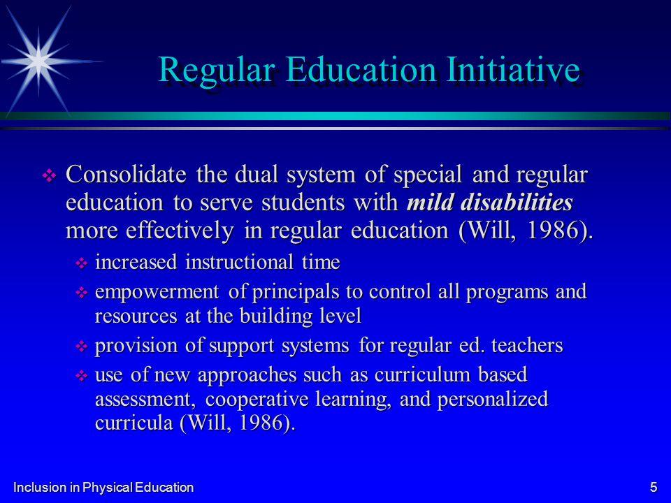 Inclusion in Physical Education 16 Daniel R.R.v. State Board of Education (Texas) 1989 Daniel R.R.