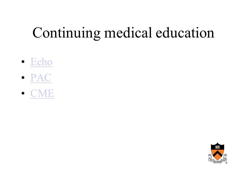 Continuing medical education Echo PAC CME
