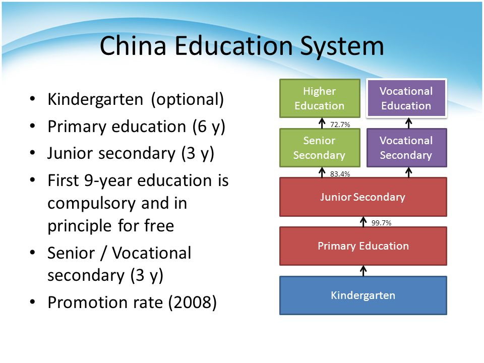 National Higher Education Entrance Examination Very important to Chinese students Standardized exams inside the province Usually consists of 4 subjects: (2 days) – Mathematics – Chinese – English – Optional subject: (Chemistry, Physics, Biology, History, Geography …)