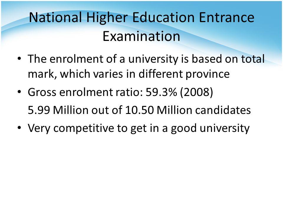 Higher Education in China 23 million undergraduates and postgraduates in ca.