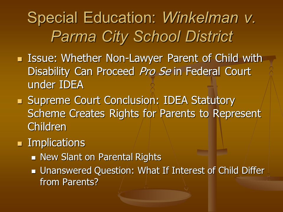 Special Education: Winkelman v.