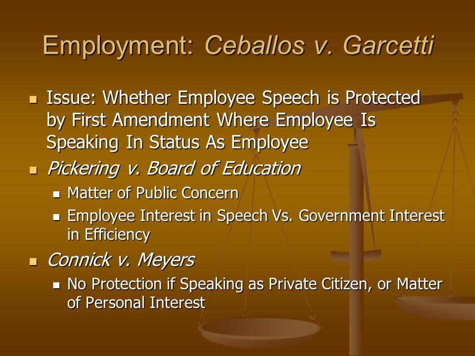 Employment: Ceballos v.