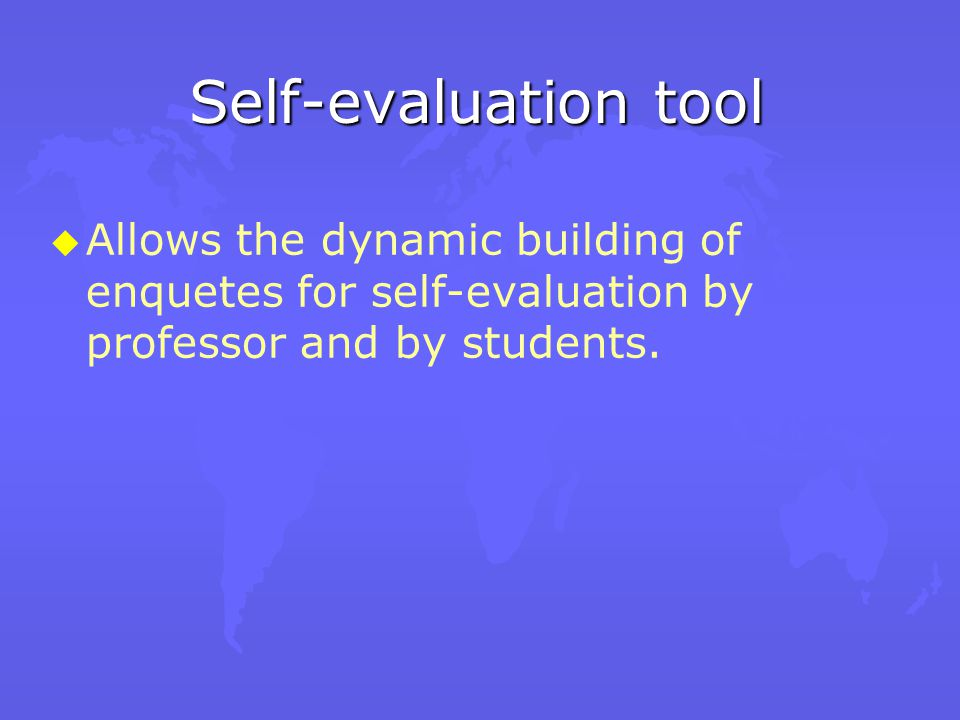 Voting tool u u Aimed to provide conditions for a fast feedback for the instructor on specific subjects.