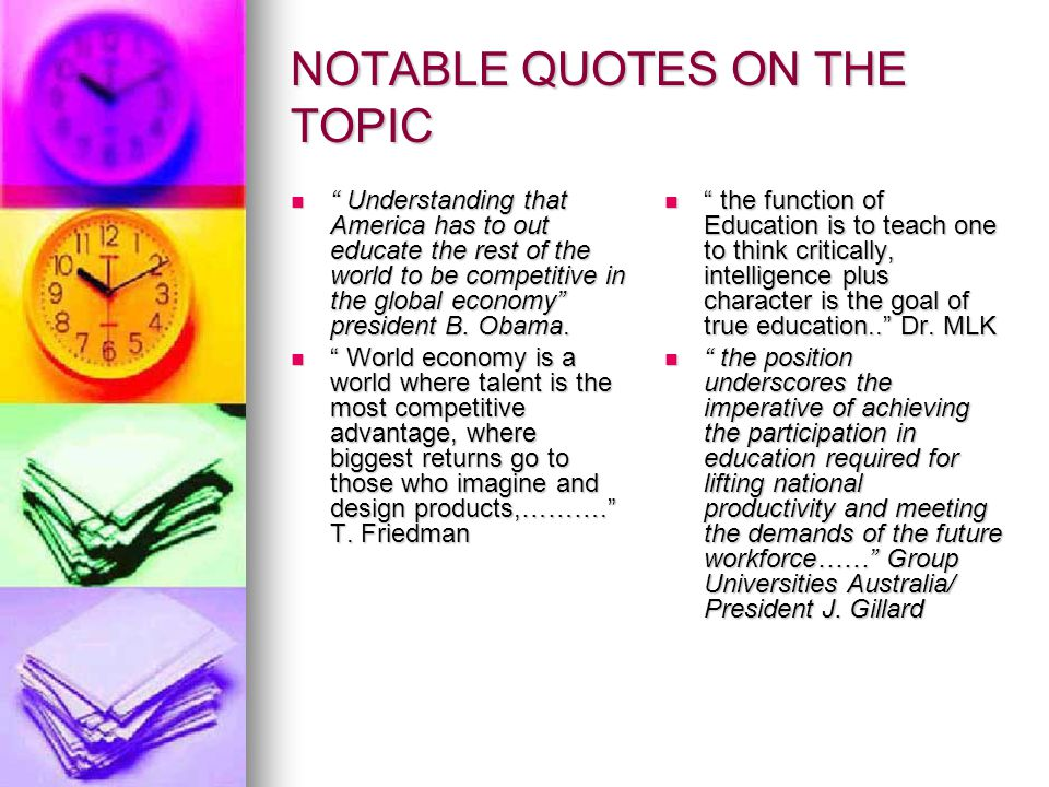 NOTABLE QUOTES CONTINUE..
