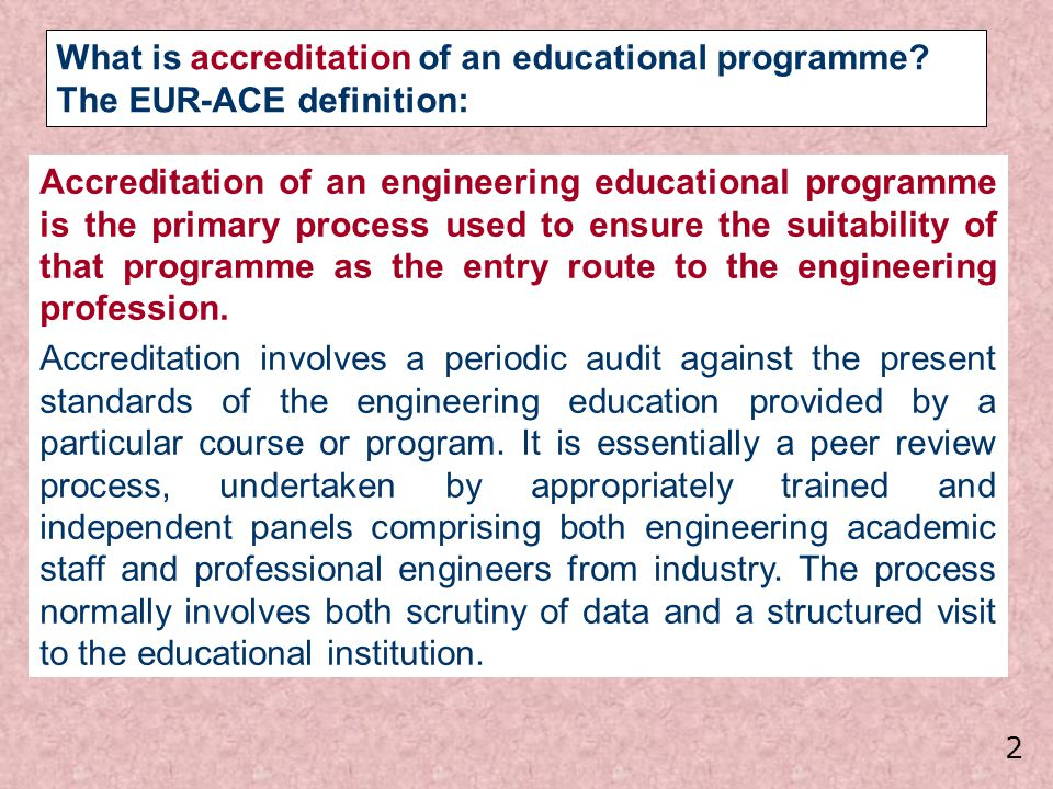 The Tentative Standards appear flexible enough to accommodate national and subject differences and to leave the door open to future developments, so that the proposed accreditation standards will not become a straightjacket but rather an incentive to continuously make improvements through incorporating best practice.